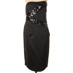 🆕 Michael Kors Black mini Dress Sequins Po…